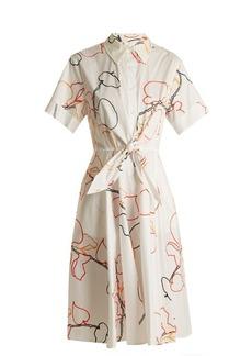 Diane Von Furstenberg Albion-print cotton-blend poplin dress