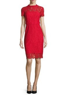 Diane von Furstenberg Alma Lace Sheath Dress