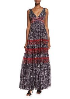 Diane von Furstenberg Altessa Sleeveless Prairie Maxi Dress
