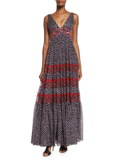Diane von Furstenberg Altessa Sleeveless Prairie Maxi Dress