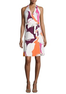 Diane von Furstenberg Amelia Halter Wrap Dress in Silk Jersey