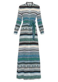 Diane Von Furstenberg Amina silk-blend maxi shirtdress