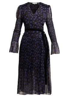 Diane Von Furstenberg Ani Ditsy-print silk-chiffon wrap dress