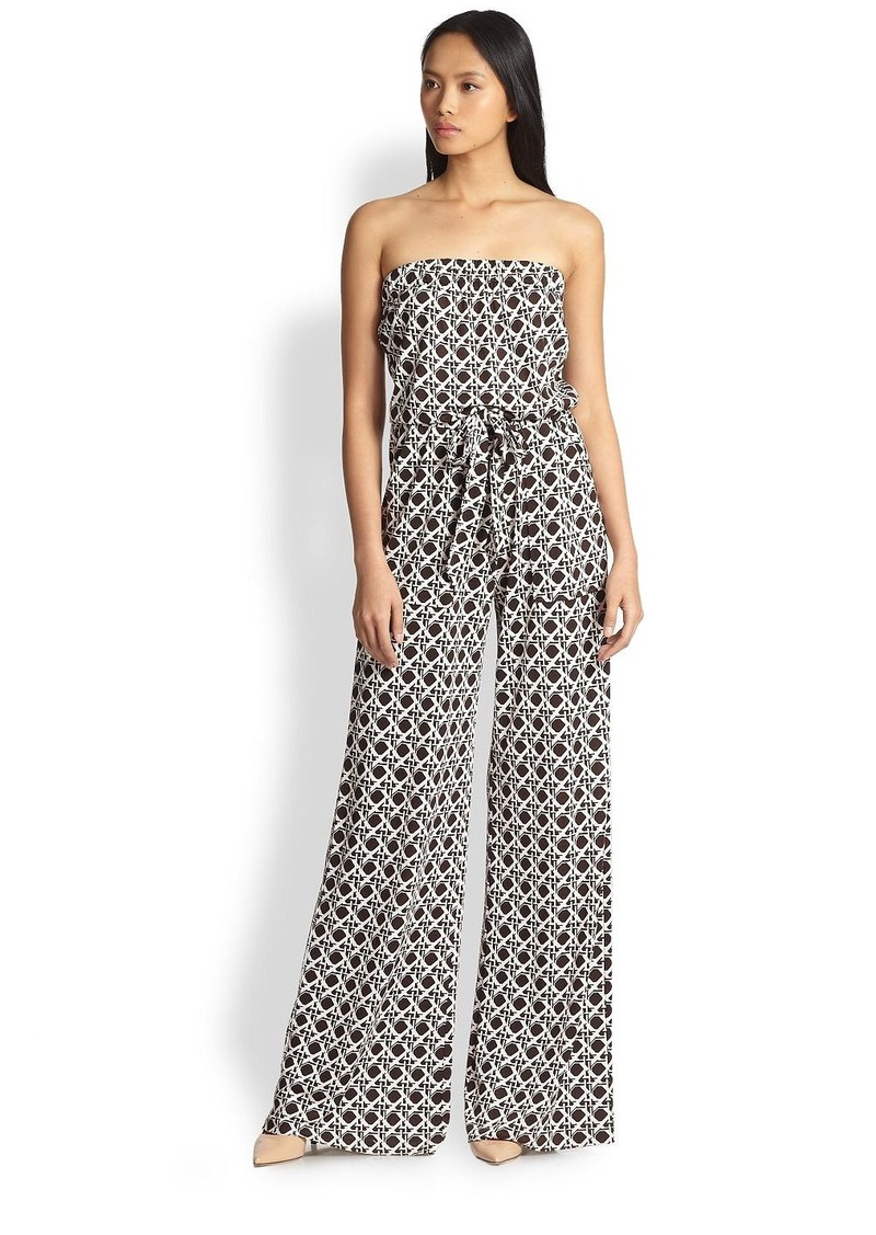 diane von furstenberg diane von furstenberg ani silk jumpsuit casual pants shop it to me. Black Bedroom Furniture Sets. Home Design Ideas