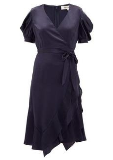 Diane Von Furstenberg Ansley waist-tie satin wrap dress