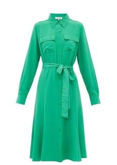 Diane Von Furstenberg Antonette silk-crepe shirtdress