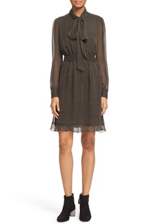 Diane von Furstenberg 'Arabella' Pinstripe Silk Dress