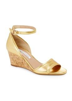 Diane von Furstenberg Asti Ankle-Strap Wedges