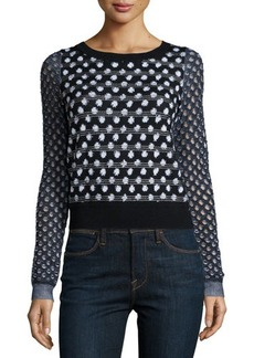 Diane von Furstenberg Astin Wool-Blend Boucle-Trim Sweater