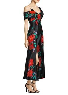 Diane Von Furstenberg Asymmetric Floral-Print Dress