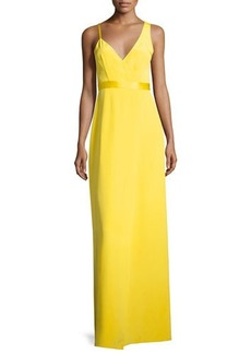 Diane von Furstenberg Asymmetric Sleeveless Side-Slit Gown