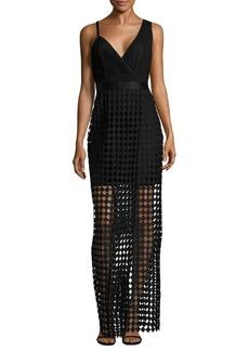 Diane von Furstenberg Asymmetrical Lace Gown