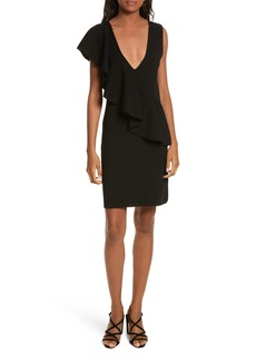 Diane von Furstenberg Asymmetrical Ruffle Dress