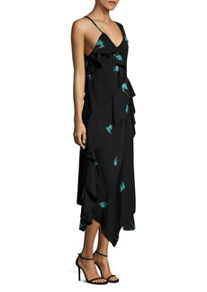 Diane Von Furstenberg Asymmetrical Ruffled Dress