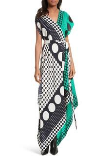Diane von Furstenberg Asymmetrical Scarf Maxi Dress