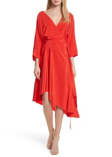 Diane von Furstenberg Asymmetrical Wrap Silk Dress