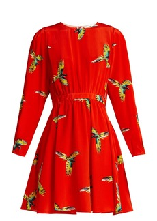 Diane Von Furstenberg Aurora phoenix-print silk mini dress