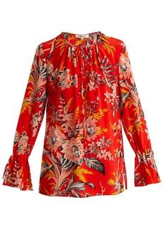 Diane Von Furstenberg Avalon poppy-print silk-crepe blouse