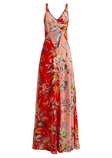 Diane Von Furstenberg Avalon poppy-print silk maxi dress
