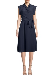 Diane von Furstenberg Avery Silk Button-Front Shirtdress