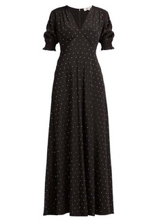 Diane Von Furstenberg Avianna crystal-embellished silk maxi dress