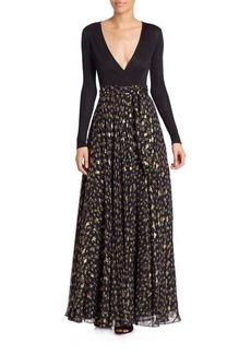 Diane von Furstenberg Aviva Wrap Maxi Dress