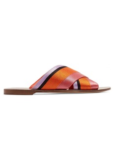 Diane Von Furstenberg Bailie satin slides
