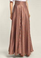 Diane Von Furstenberg Baker polka-dot silk skirt