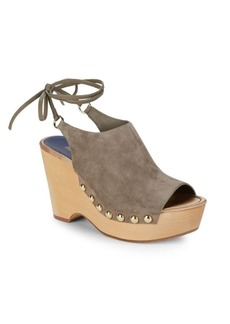 Diane von Furstenberg Bali Wood Wedge Sandals
