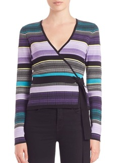 Diane von Furstenberg Ballerina Striped Wrap Sweater