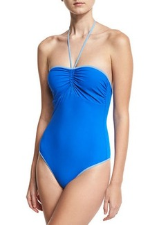 Diane von Furstenberg Bandeau Halter One-Piece Swimsuit