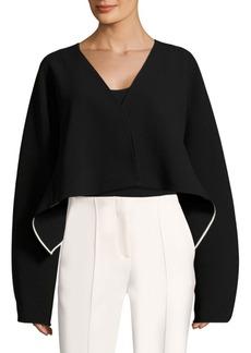 Diane Von Furstenberg Crop Button Jacket