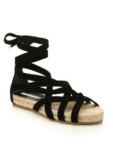Diane von Furstenberg Bastia Suede Lace-Up Espadrille Sandals