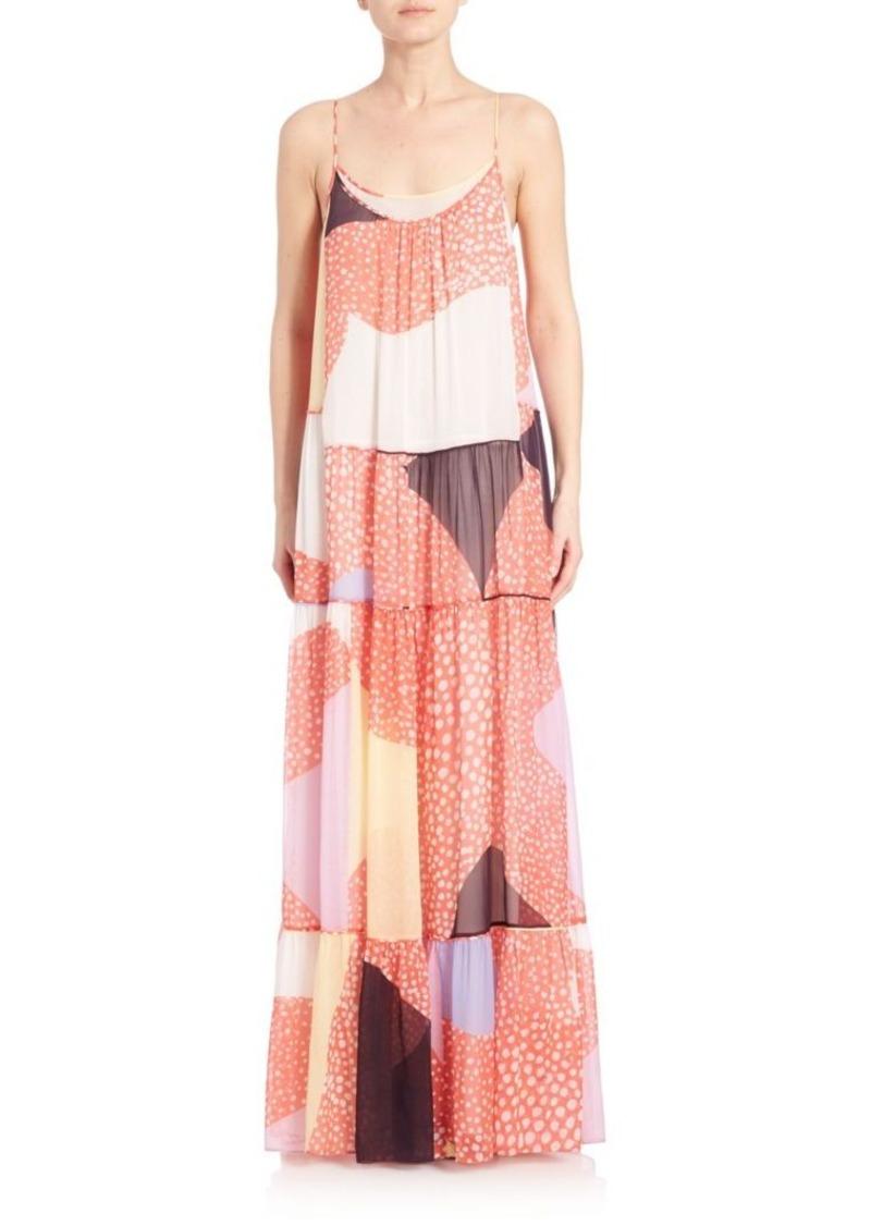 Diane von Furstenberg Baylee Mixed-Print Silk Maxi Dress