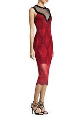Diane Von Furstenberg Beaded Lace Sheath Dress
