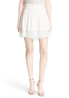 Diane von Furstenberg 'Belita' Lace Hem Skirt