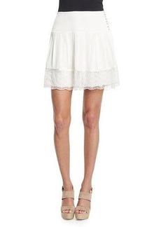 Diane von Furstenberg Belita Lace-Trim A-Line Skirt