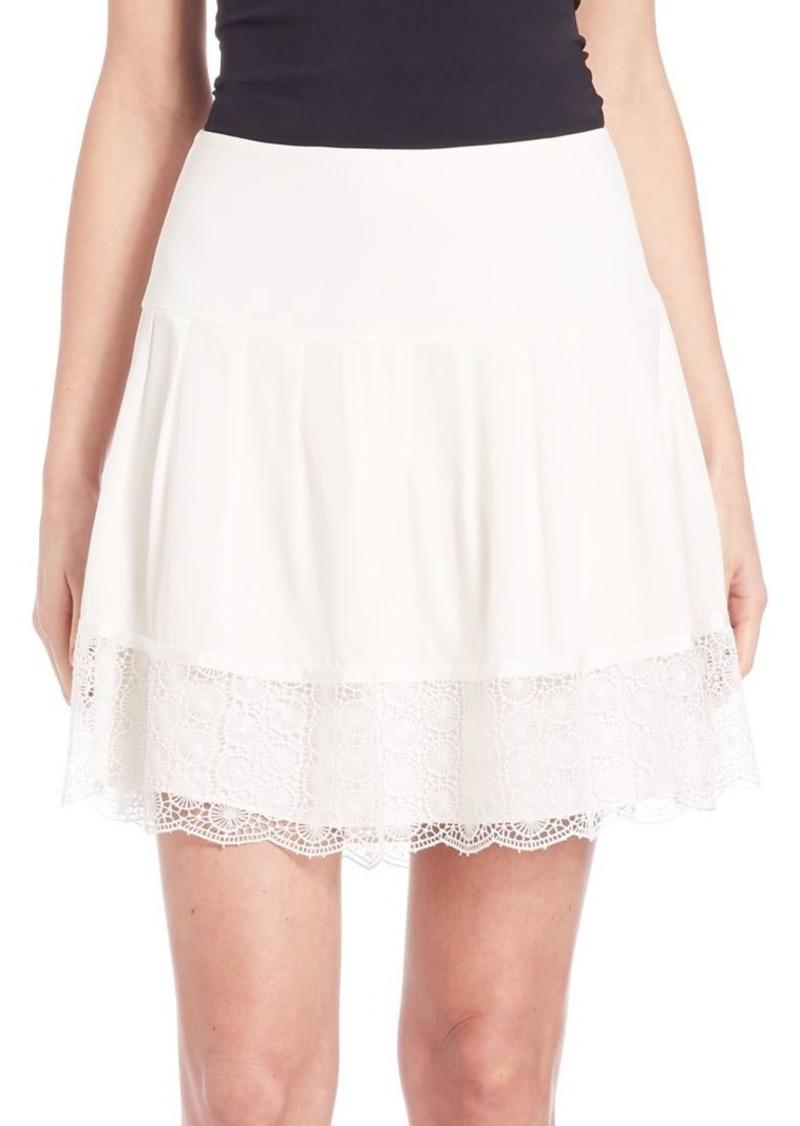 Diane Von Furstenberg Belita Lace-Trimmed Mini Skirt