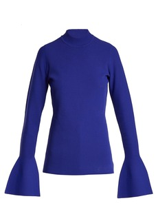 Diane Von Furstenberg Bell-cuff stretch-knit top