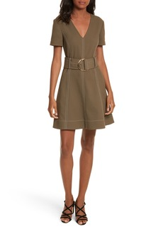 Diane von Furstenberg Belted Fit & Flare Dress
