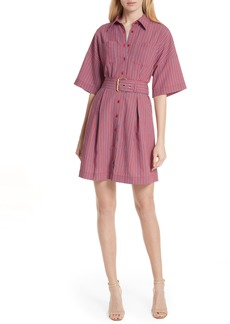 Diane von Furstenberg Belted Stripe Shirtdress