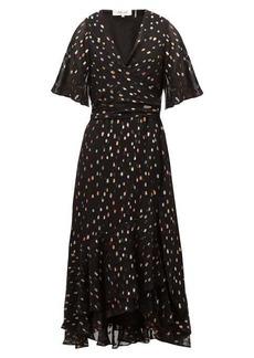 Diane Von Furstenberg Berdina fil-coupé chiffon wrap dress