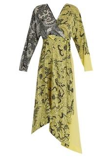 Diane Von Furstenberg Bi-colour silk crepe de Chine dress
