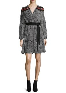 Diane von Furstenberg Bianka Long-Sleeve Wrap Dress