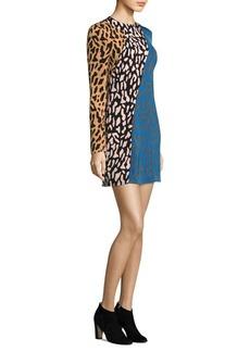 Diane Von Furstenberg Bias Fitted Mini Dress