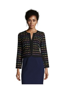 Diane Von Furstenberg black and violet tweed 'Alberta'...