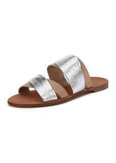 Diane von Furstenberg Blake Flat Double-Band Slide Sandal