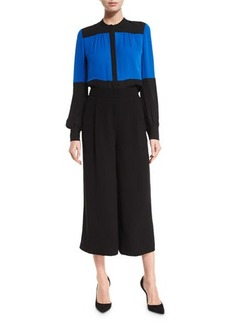 Diane von Furstenberg Holly Single-Pleat Culottes