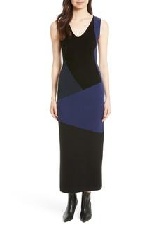 Diane von Furstenberg Body-Con Knit Maxi Dress