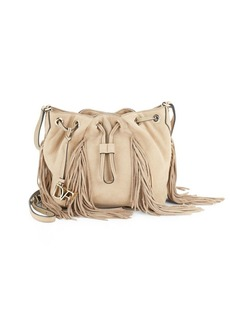 Diane von Furstenberg Boho Fringed Leather Crossbody Bag